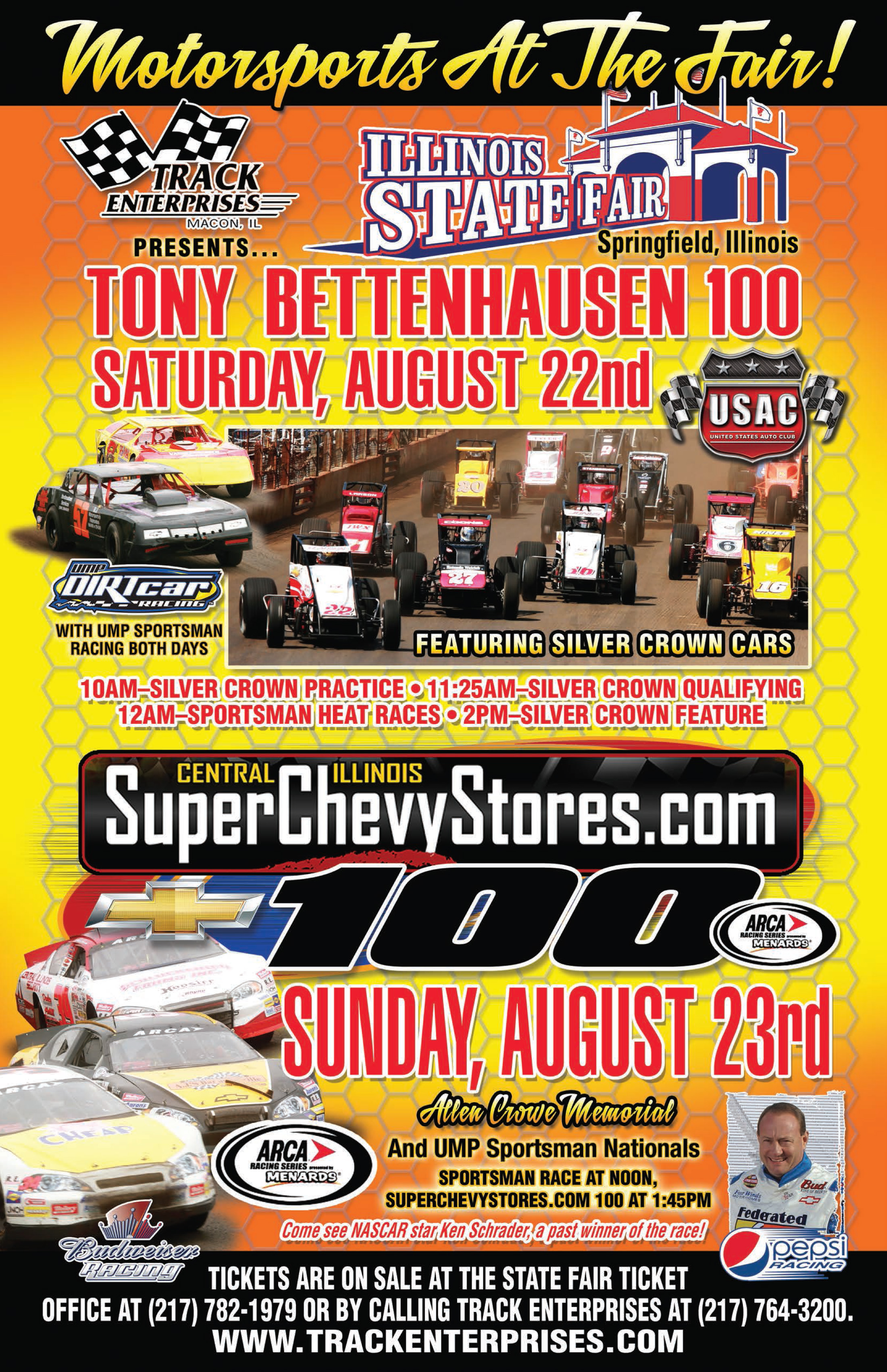 Super Chevy Stores To Hold Car Shows To Promote Springfield ARCA - Baum chevrolet clinton il car show