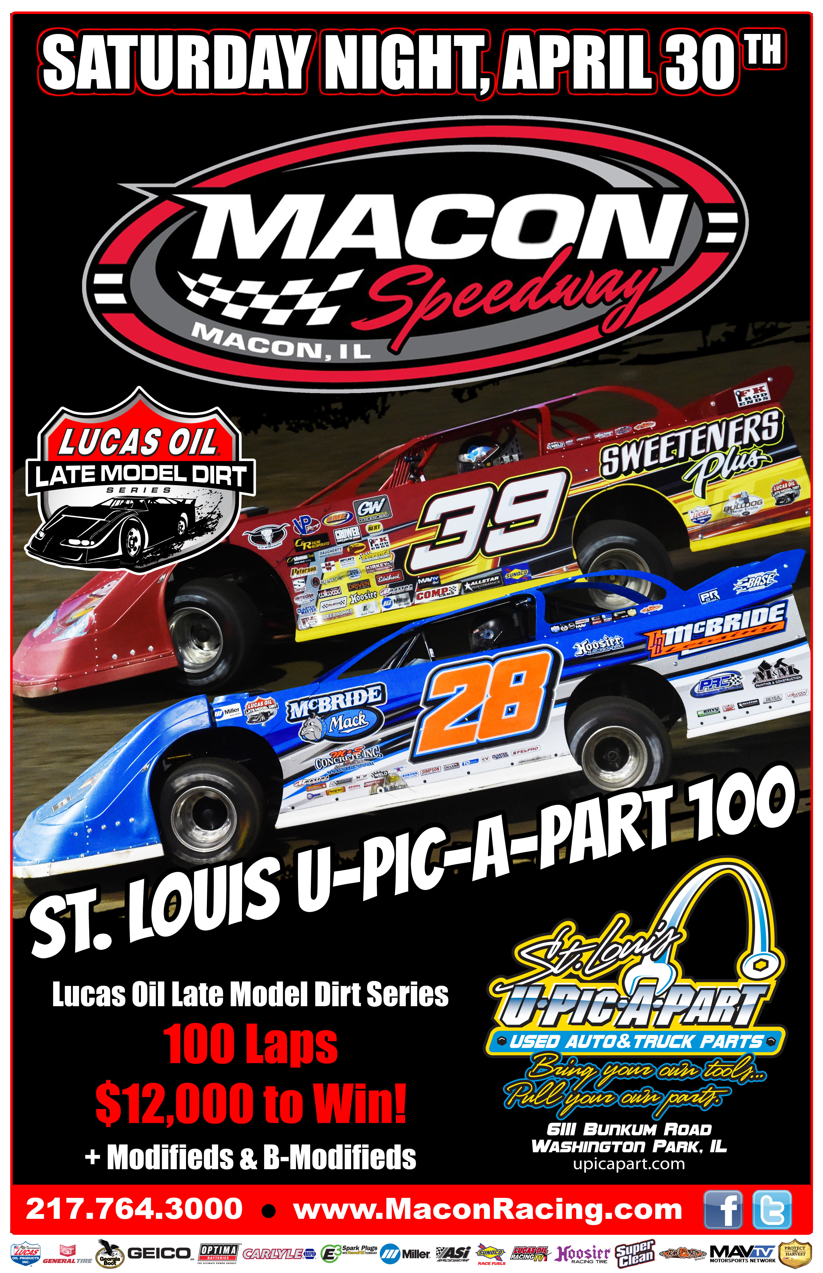Lucas Oil Late Model Stars Set For Saturday At Macon