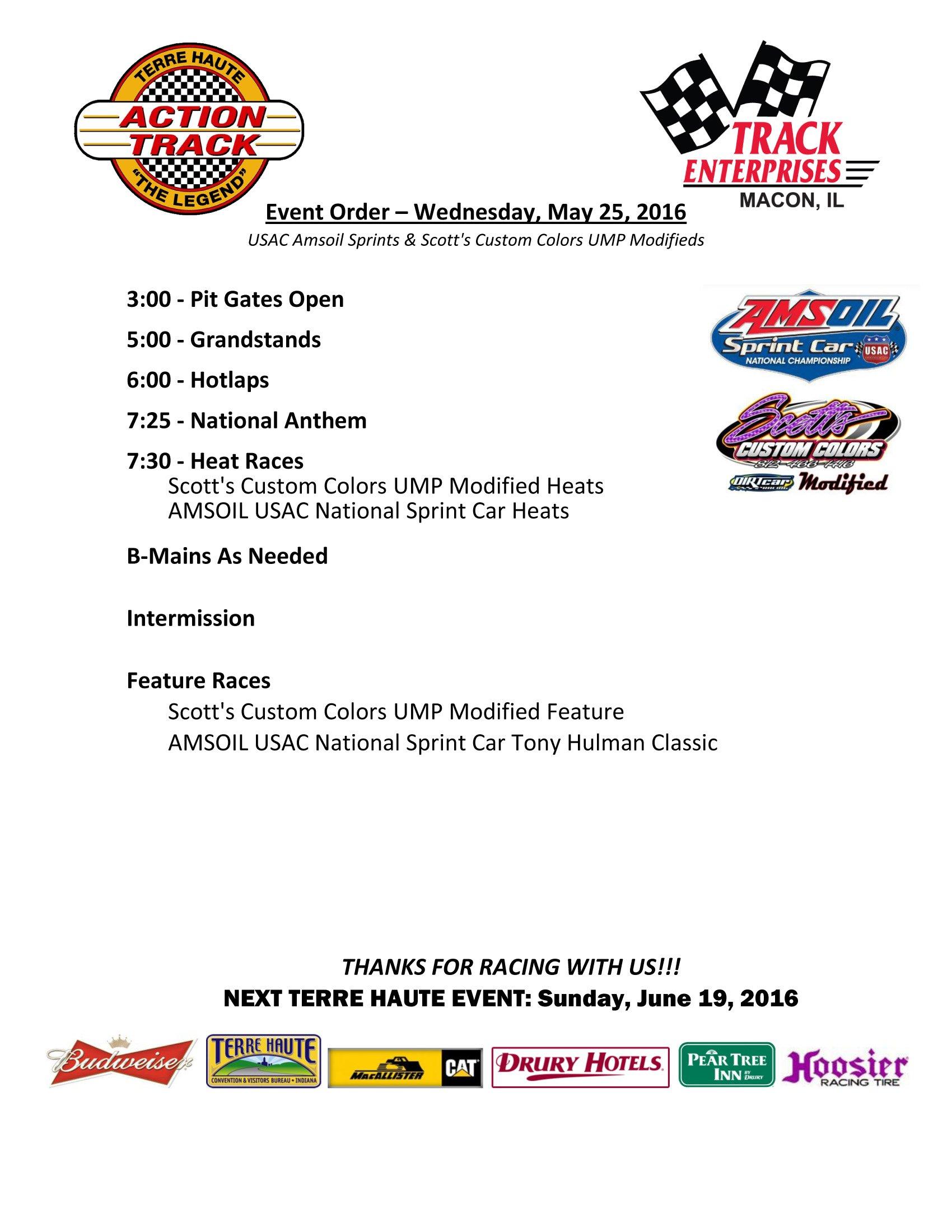 Detailed Schedule 05-25-16