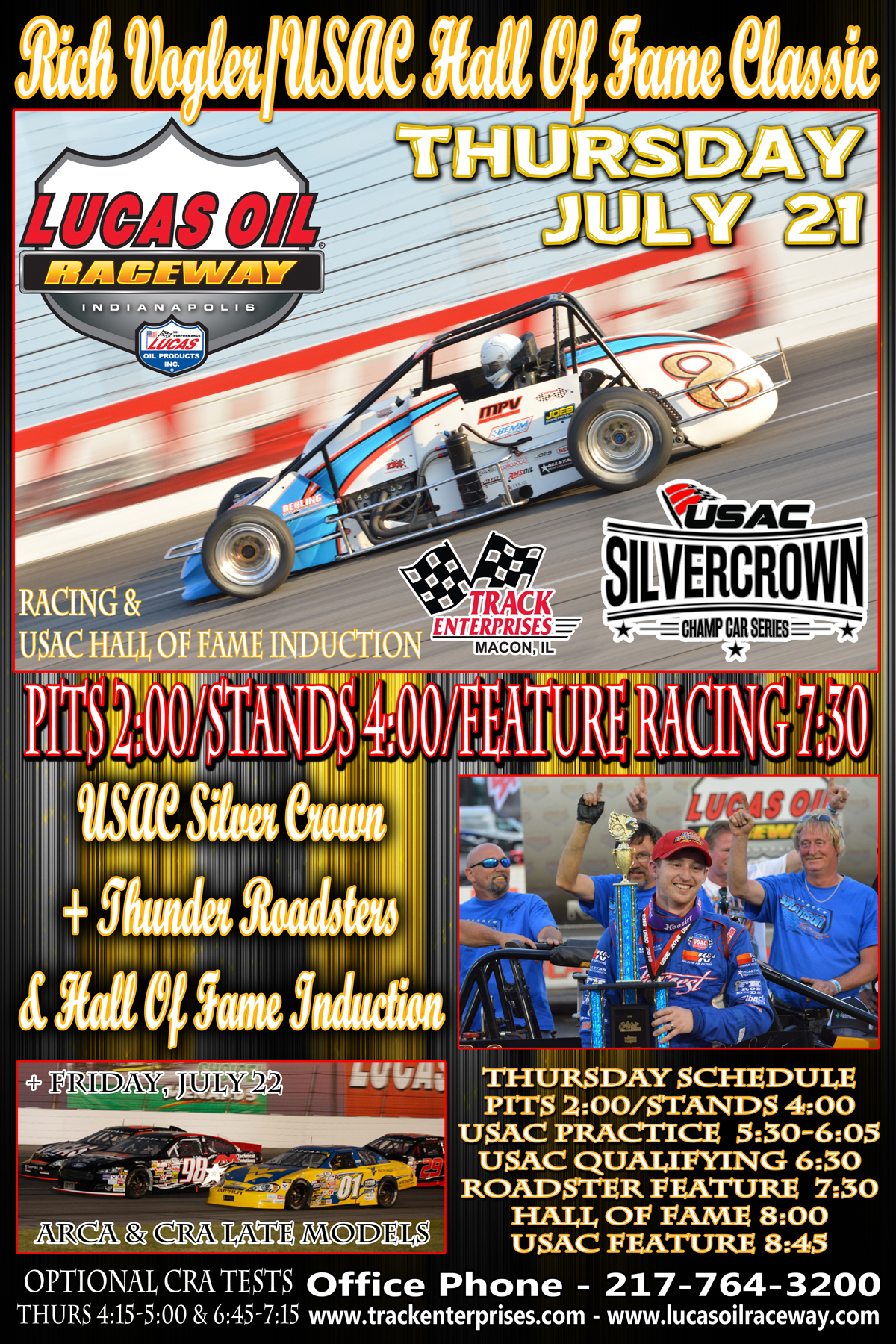 Silver Crown July Card