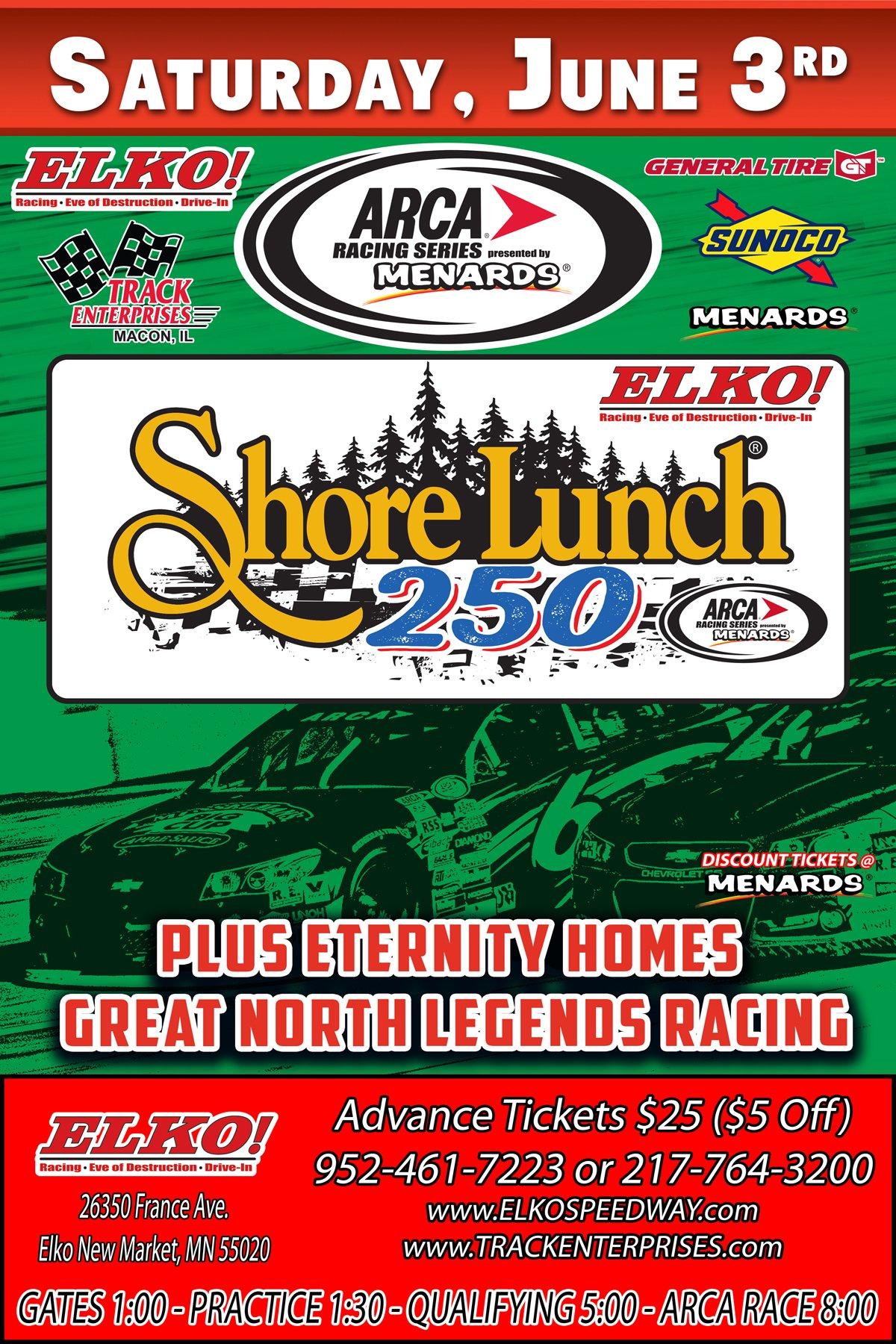 Elko Speedway ARCA June 3