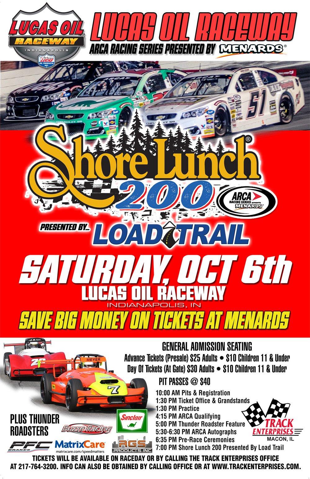 Lucas Oil Raceway October 6