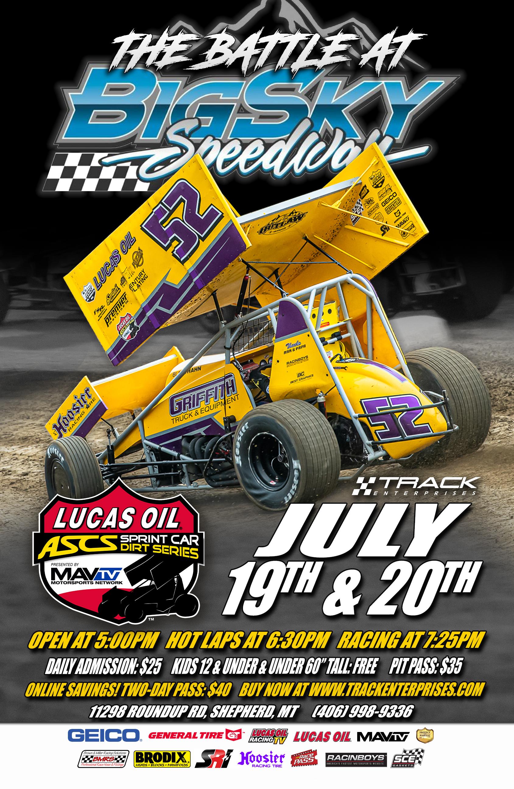 July 19 & 20 Big Sky Speedway