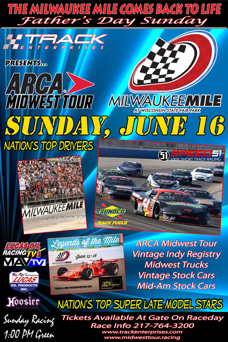 June 16 Milwaukee Mile