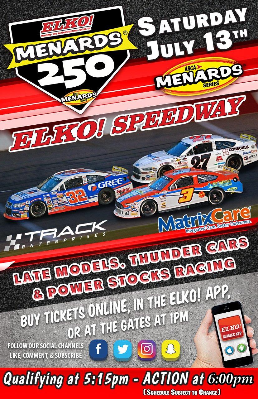 Elko Speedway ARCA July 13