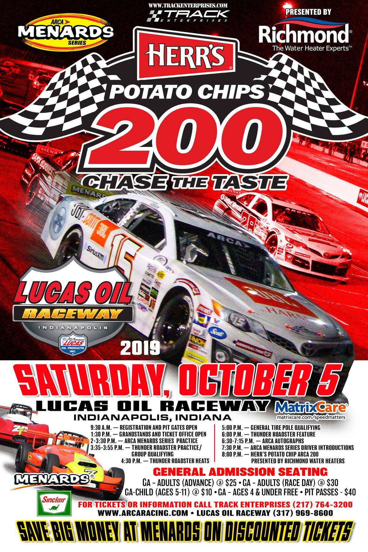 October 5 Lucas Oil Raceway